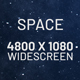 Flying Through Space Widescreen Background - VideoHive Item for Sale