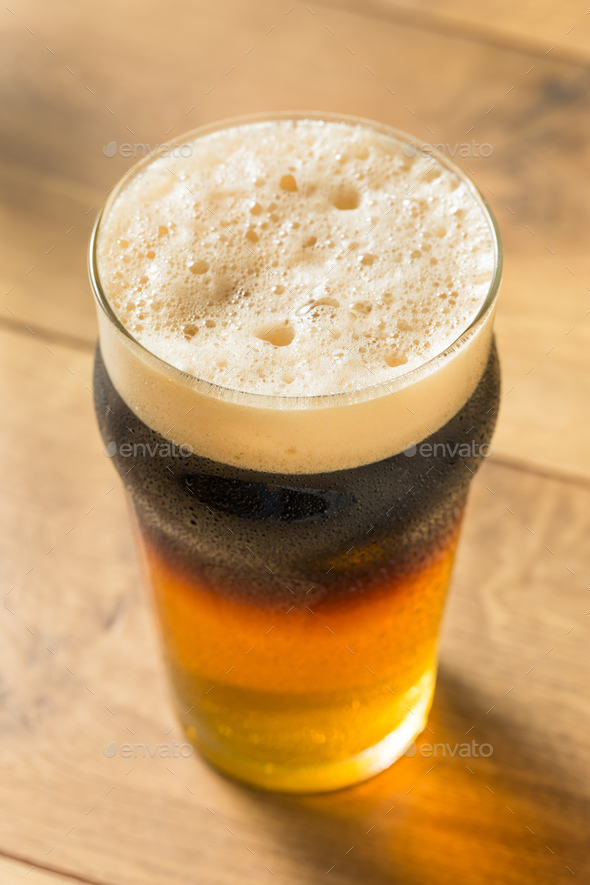 Alcoholic Cider and Beer Black Velvet - Stock Photo - Images
