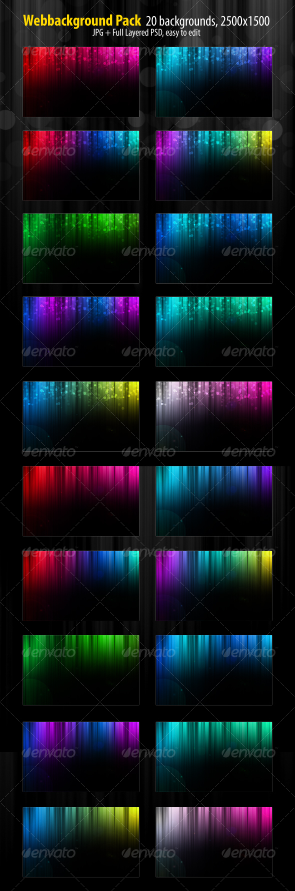 Web Background Pack - Abstract Backgrounds