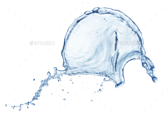 Blue water splash - Stock Photo - Images