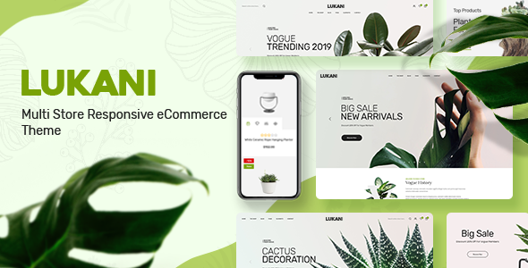 Lukani - Plant Store Theme for WooCommerce WordPress