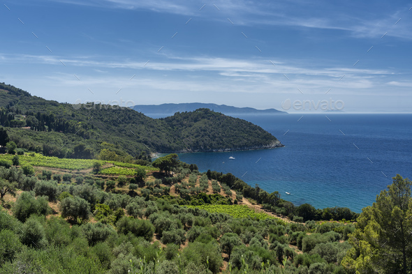 Monte Argentario, promontory on the Tirreno sea in Tuscany - Stock Photo - Images