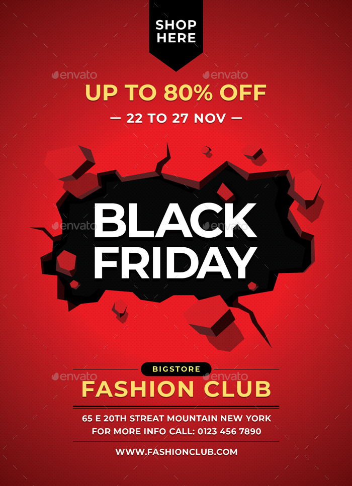 Black Friday Flyer By Sunilpatilin Graphicriver