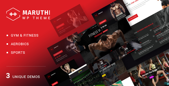Maruthi - Fitness Gym Trainer WordPress Theme