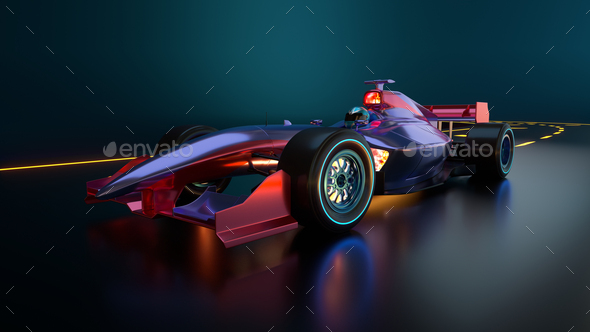 Race Car speeding along highway - Stock Photo - Images