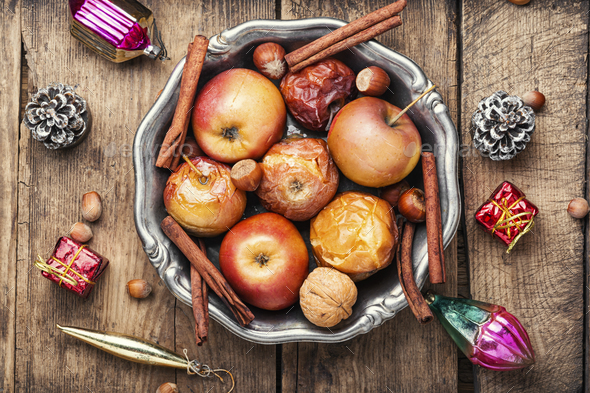 Red baked apples - Stock Photo - Images