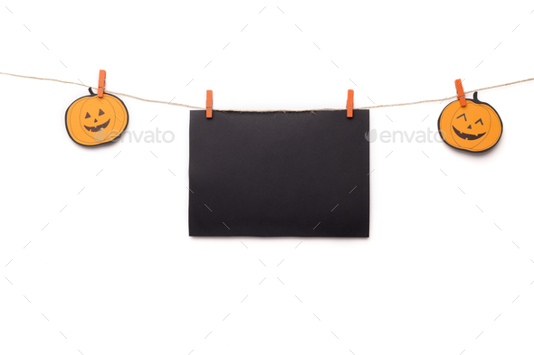 Creative Halloween background with copy space for text - Stock Photo - Images