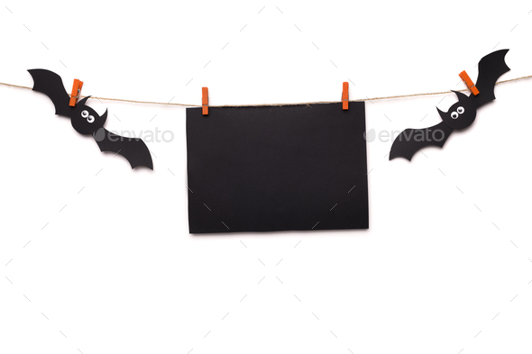 Scary Halloween card with copy space for greetings - Stock Photo - Images
