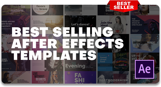 2021's Best Selling | After Effects Templates
