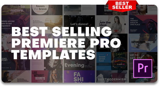 2019's Best Selling | Premiere Pro Templates