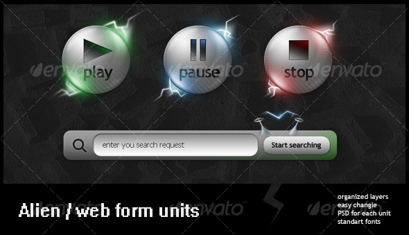 Alien style web units - Web Elements