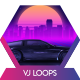 Car City Retro Trip 1 Vj Loops Background - VideoHive Item for Sale