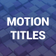 Clean Motion Titles - VideoHive Item for Sale