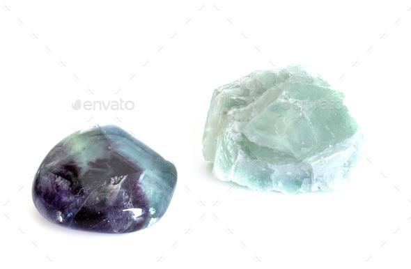 fluorite in studio - Stock Photo - Images