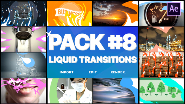 Liquid Transitions Pack 08   After Effects Download Free