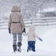 Mother with her little girl in snow - PhotoDune Item for Sale
