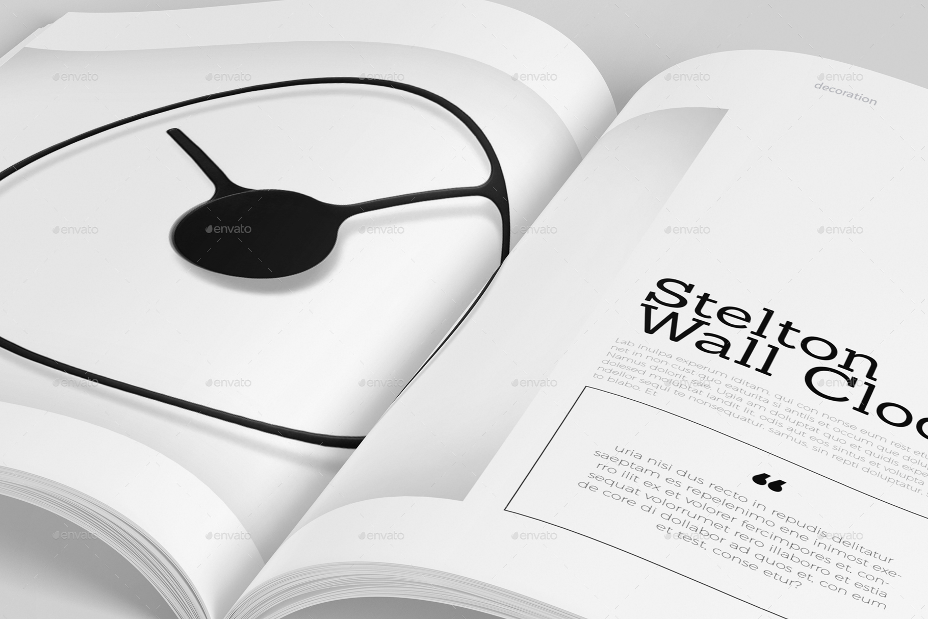 Design Decoration Magazine Template By Depautamadre Graphicriver