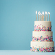 Tiered birthday cake with sprinkles - PhotoDune Item for Sale
