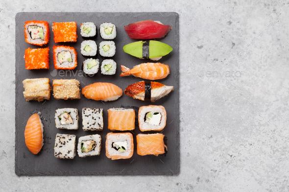 Japanese sushi set - Stock Photo - Images