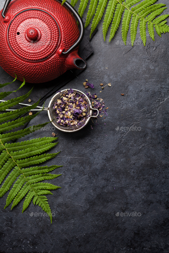 Herbal and fruit dry teas - Stock Photo - Images