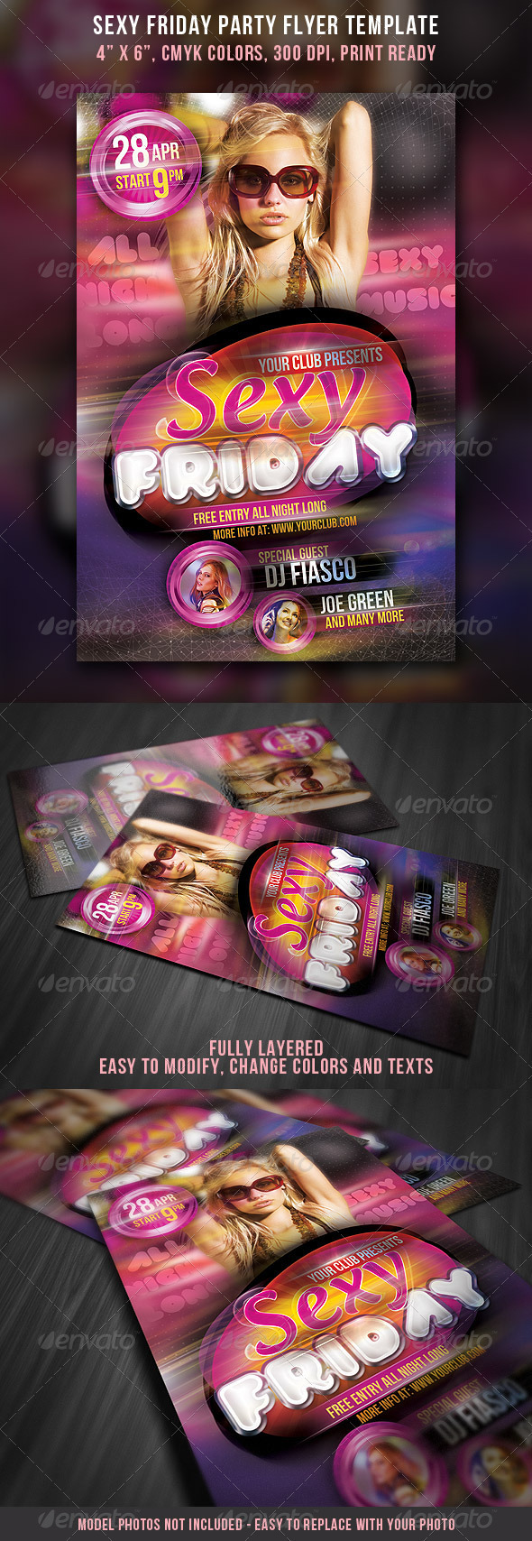 Sexy Friday Party Flyer Template - Clubs & Parties Events