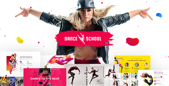 Dance School WordPress Theme for Music, Language and Instrumental