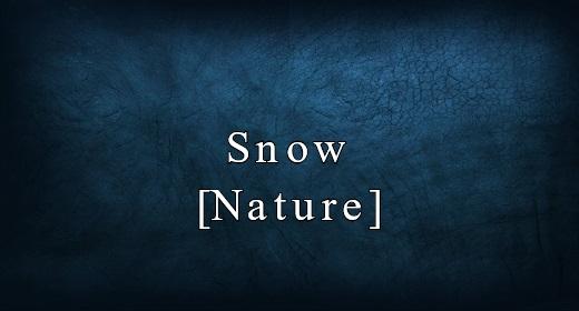 Snow [Nature]