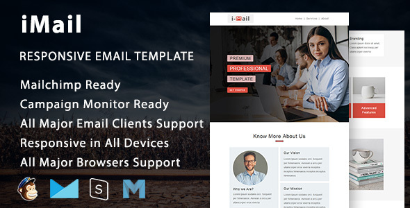iMail - Multipurpose Responsive Email Template with Mailchimp Editor by fourdinos