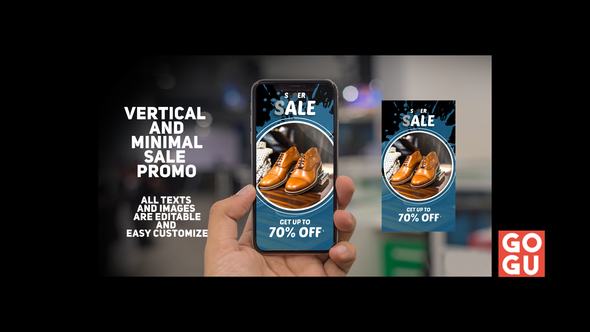 Vertical And Minimal Sale Promo Download Free