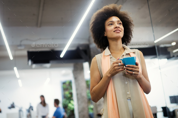 Start up of enterprise, women leader the new company self confident - Stock Photo - Images