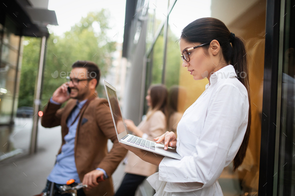 Business team digital device technology connecting concept - Stock Photo - Images