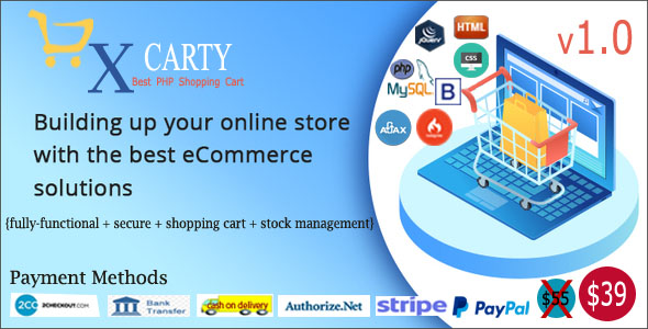 xCarty - E-commerce System with Stock Management