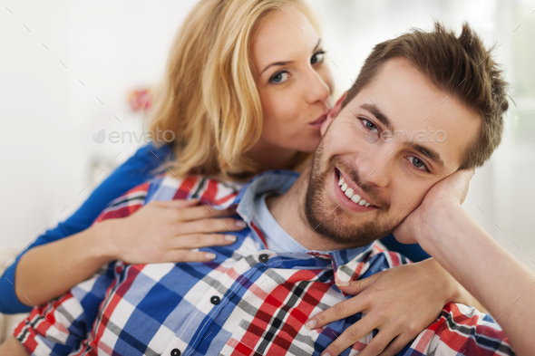 Portrait of couple in love - Stock Photo - Images