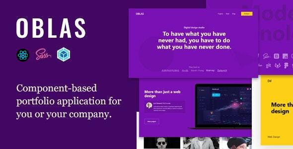 Oblas - React App Portfolio by AVMThemes