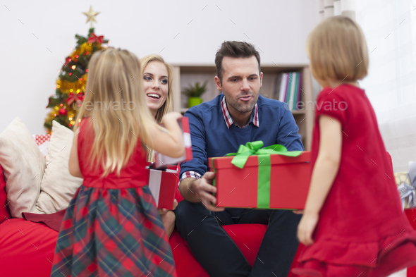 Girls! Santa Claus is coming! - Stock Photo - Images