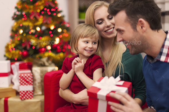 Christmas time spending with family - Stock Photo - Images
