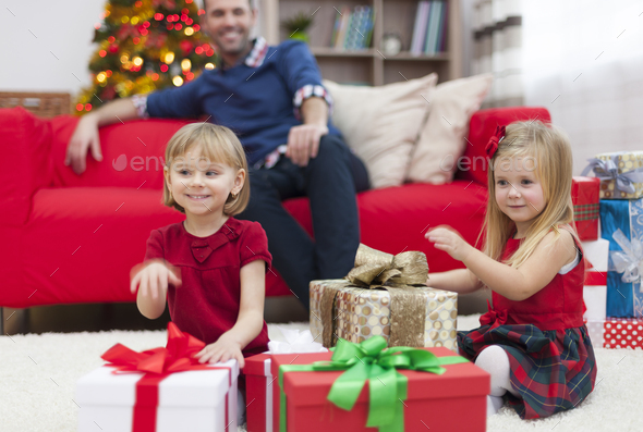 We hope that Santa Claus has for us our dream gifts - Stock Photo - Images