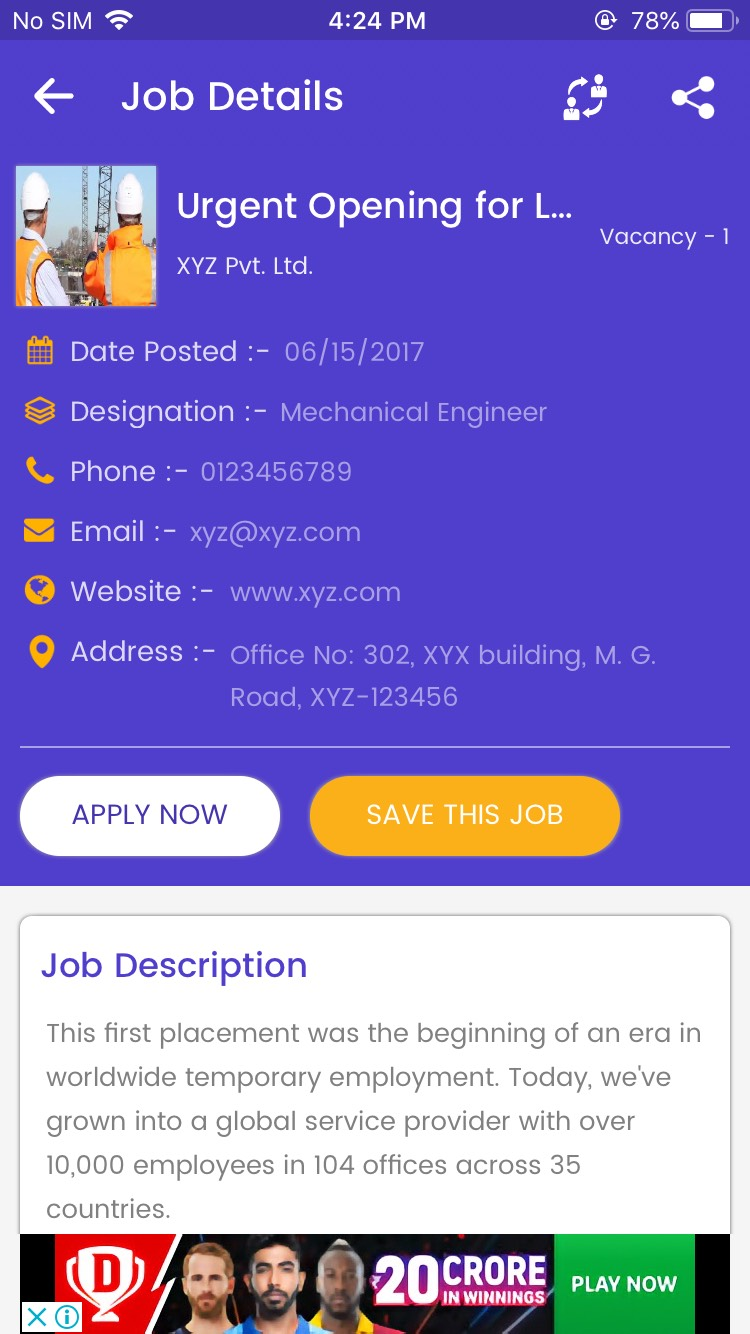 ios jobs app  job seeker  job provider  naukri  shine