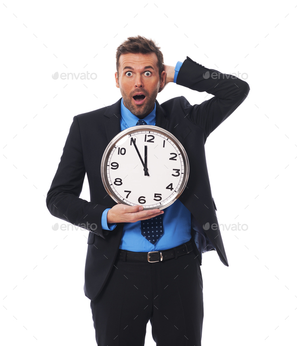 I have only five minute! - Stock Photo - Images