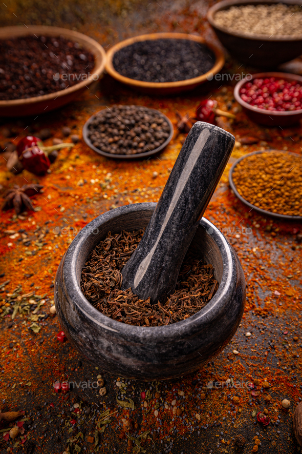 Spice and herbs composition - Stock Photo - Images