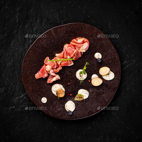 Matured homemade ham - Stock Photo - Images