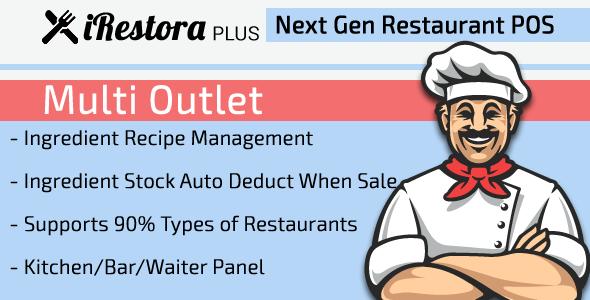 iRestora PLUS Multi Outlet - Next Gen Restaurant POS