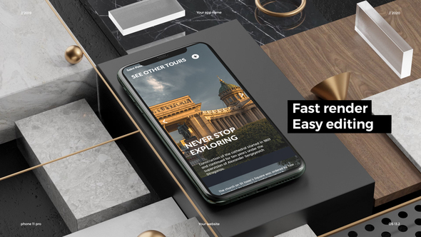 Phone 11 Pro App Presentation Mockup Download