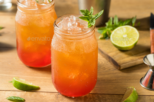 Homemade Sweet Planters Punch - Stock Photo - Images