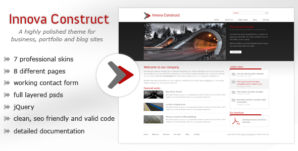 Free Download Innova Construct - Business, Portfolio, Blog Nulled Latest Version