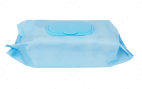 Tissue box isolated on a white background - Stock Photo - Images