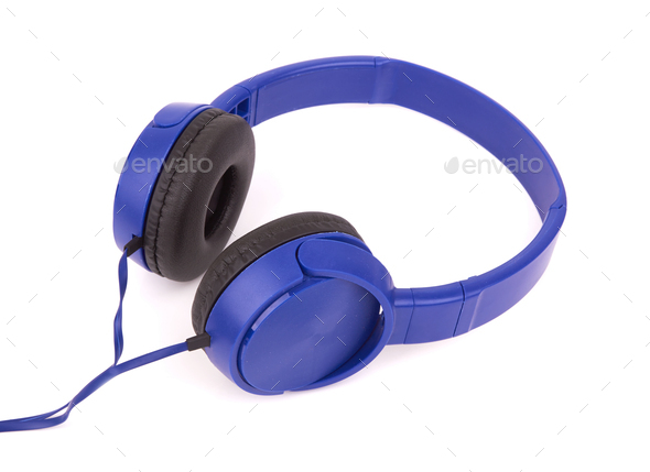 headphones isolated on a white background - Stock Photo - Images