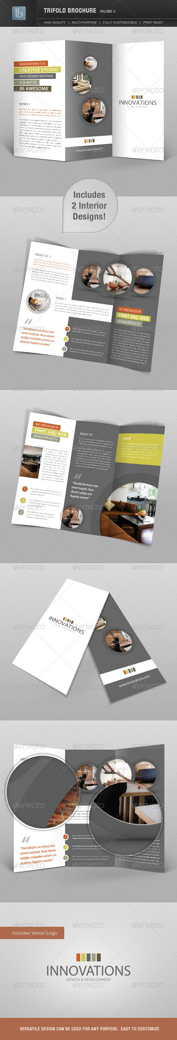 Trifold Brochure | Volume 5 - Brochures Print Templates