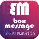 Box Message for Elementor WordPress Plugin