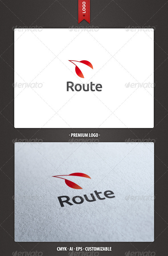 Route Logo Template - Abstract Logo Templates